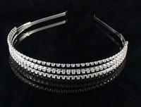 Wholesale Hot fashion female girl rhinestone crystal Headband bandage on his head Bride Wedding Tiara crown hair hoop accessories