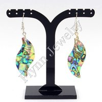 Wholesale New Fashion Charm Cross Natural Abalone Shell Drop Earrings Accessories Silver Plated Fashion Jewelry Pairs