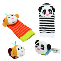 baby watch band - baby toy sets Sozzy baby animal watch band wrist length socks rattles bell baby newborn toy hot sale