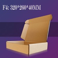Wholesale F4 mm Big Brown Brown Kraft Paper Boxes For Jewelry Candy Chocolate Cajas Carton Macaron Cardboard Gift Box