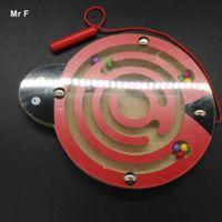 animal maze games - Ladybird Labyrinth Magnetic Brush Ball Cartoon Animals Maze Wooden Kids Toys Intelligence Game