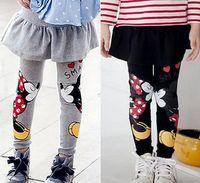 Wholesale Spring Autumn Baby Kids Girls Minnie Cartoon Mouse Pants Leggings Children Skirt Pants Y HJIA834