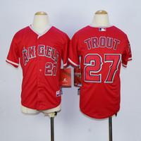 angels jerseys - Top Quality Cheap Kids Los Angeles Angels Jerseys Boys Mike Trout Jerseys Youth Stitched Baseball Jerseys Embroidery Logos