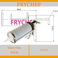 Wholesale Stainless Steel Sauce Gun Dispenser With Sauce Bottle kfc stainless steel sauce dispenser with sauce bottle