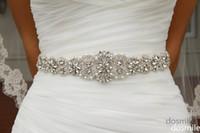 Wholesale Crystal sashes for wedding Bridal Rhinestone Belt Wedding Accessories Beaded Sash