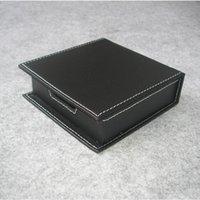 Caja del sostenedor de papel de nota informal con la organización de escritorio escritorio escritorio de oficina caja de cartón tapa organizador 312A negro