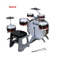 Wholesale 2016 Promotion Montessori Material New Childrens for Intelligence Simulation Jazz Drum Kit Percussion Musical Instruments Seat Belt
