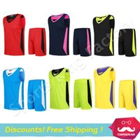 Wholesale Blank versions Basketball clothing suit Adult Basketball jerseys Customized sportswear without Brand print numbers name