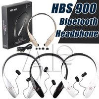 Wholesale HBS Headphones Hbs Wireless Bluetooth HBS Iphone Earphones Bluetooth Headset HBS Sports HBS900 BK Chip LG No logo Not Original