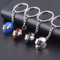 ad zinc - Brand New D Racing Motorcycle Helmet Keychain Key Ring Gift Moto Accessories Collect Cool Sports Promotion Gift ADS Gift Keychain2016