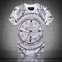 Wholesale Watch Rhinestone PHILIPP PP Logo O neck Men s T shirt Tees
