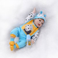 baby so real toys - 22 quot Soft Silicone Reborn Baby Dolls So Truly Real Baby Alive Dolls Bonecas Doll Kids Toys Christmas Gift