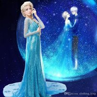 Wholesale 2016 Hot Sales Elsa costume Frozen Elsa Princess Halloween Costume fantasia elsa frozen custom Adult Cosplay Costume