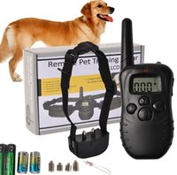 Wholesale 998D LCD Remote Control DogTraining Collar Electric Shock Dog Bark Stop Collar M Range for to kg Dog