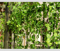 Wholesale New Artificial Silk Plastic Wall Hanging Plant Vine Flower Rattan Craft Ornament Supplies For Wedding Home Garden Decorations
