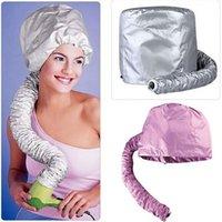 Wholesale Hair Dryer Bonnet Caps Portable Soft Hood Attachment Home Salon Haircare Women Hairdressing Hat Perm hair cap helmet barbershop