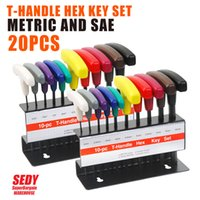 allen wrench set sae - 20 PC T HANDLE HEX KEY SET METRIC AND SAE ALLEN WRENCH