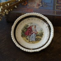 antique porcelain dishes - antique western old goods British made Adams Adams fancy small roll edge porcelain dish NT