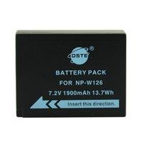 Precio de Baterías de la cámara digital de fuji-cargador de batería 24v cargador de batería DSTE 2 piezas de NP-W126 recargable para la cámara Fuji HS50 HS35 HS33 HS30EXR XA1 XE1 X-Pro1 XM1 X-T10 Digital