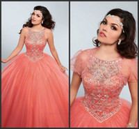 angles picture - Angle Prom Dress Sweet Girls Wear Long Quinceanera Gowns Cheap Crystals Beadings Sparked Elegant Lace Up Back Fashion Design Modest Jacket