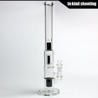 black gift boxes - Manifest Glassworks black Mini Stemless mm Cirq Double Perc bongs glass bong water pipes thick glass