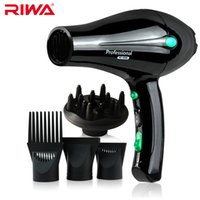 ac motor design - Anti Radiation Design RIWA Black Bee Seires W High Power AC Motor Professional Ionic Hair Straightener Blow Dryers With Comb