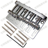 Wholesale High quality Silver iron bass Electric guitar Bridge bass strings Guitar Parts