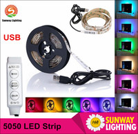 bicycle decoration - DC V Led Strips m RGB SMD5050 LED m Flexible LED Strip for TV Car Computer Bike Bicycle Tent Christmas Festival Party Lighting