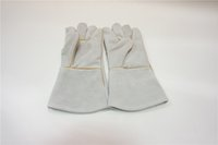 arc welding gloves - Hitbox high quality Working Protection Safety Welding cow Leather Gloves grey Color for ARC MMA STICK MIG welding process