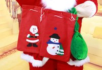 Wholesale New Christmas Old Man Bag Christmas Gifts Thicken Cloth Bags with Three Different Patterns fast dhl
