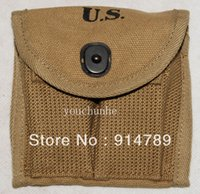 ammunition types - WWII US M1 CARBINE BUTTSTOCK TYPE CANVAS AMMUNITION MAGAZINE POUCH