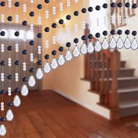 Wholesale 20Meter Crystal Beads Rope Curtain Bedside Living room Bedroom Door dining hall DIY Wall curtain Bead Home Party Decor TP09