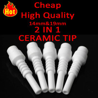 best oil materials - Best selling Nector Collector honey oil suckle cheap Ceramic Tip With mm mm Male Joint Food Grade Ceramic Material Hight Quality