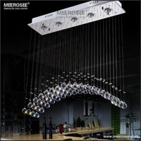 area holidays - HOT Modern Crystal Ceiling Light Fixture Rectangle Curtain Crystal lustre Lamp for dining area meeting room