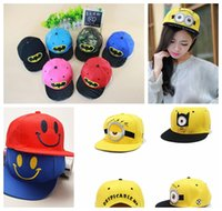 Wholesale Adult kids Minion Baseball Caps children Batman Emoji Hats Hip Hop Caps unisex snapback Baseball Cap Children Adjustable Sports Hats KKA691
