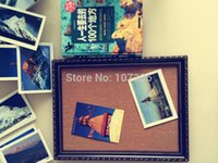 Wholesale Newb arrival cork bulletin board can be hanging Cork Message Board with photo frame43 cm with accessories