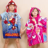 Wholesale Child microfiber Printing Children Hooded cape cloak Children Bathrobes cm for