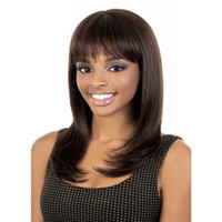 arrival hair wigs - Shipping in Hours New Arrival Hot cm Long Dark Brown Straight Synthetic Ladys Hair Wig Full Wigs