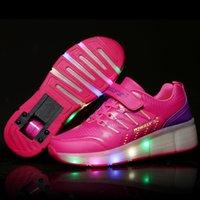 autumn brand roller shoes - Brand Heelys Kids Shoes with Wheels Kids Roller Shoes Girls Sneakers for Boys Girls Shoes Pink Black zapatillas deportivas mujer