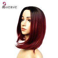 Wholesale burgundy bob wigs cheap sexy female short haircut wigs best natural looking women hair cosplay