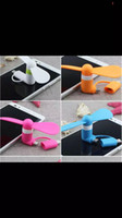 Wholesale New two in one mini Fan for iphone samsung phone