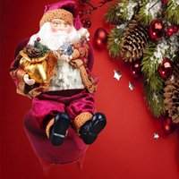 best christmas figurines - 35cm Christmas Doll Figurine Sitting Santa Claus Toy House Room Ornament Xmas Tree Hanging Ornaments Pendant Best Gift