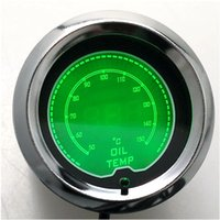 Wholesale inchs mm Green Digital LED to Degree Oil Temp Gauge For Car Vehicle Motorcycle