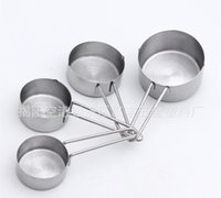 Wholesale 4 Different Capacity Measuring Cups Set Stainless Steel Measuring Cup For Kitchen Cooking Baking Cakes Measuring Tools