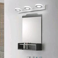 aluminum shakes - 2016 Cosmetic Circular Lamp Steel Aluminum Bathroom Cabinet Makeup Shaking LED Light Modern Artist Lamp Front Mirrow Via DHL