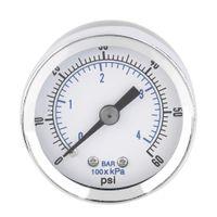 air compressor mount - high quality NPT Air Compressor Hydraulic Pressure Gauge PSI Back Mount Worldwide Store