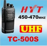 Wholesale DHL or EMS HYT TC S UHF W CH Portable Two Way Radio TC500S New model