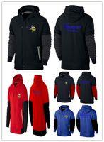 active navy ships - Minnesota cheap Vikings American football hoodies fashion black red royal blue navy blue men Sweatshirts size M XL