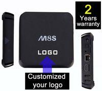 Wholesale 5pcs Customized Years Warranty Google Smart Android IPTV OTT TV boxes Amlogic S805 S812 quadcores GB GB Nobile Style M8 M8S M8Q