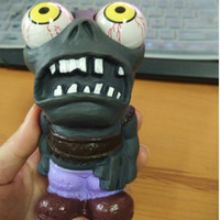 Wholesale Halloween Anti stress Toys Plants V S Zombies Decompression Toys Cartoon Popping Out Eyes Squeeze Toys Halloween Gifts